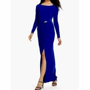 RALPH LAUREN Saphire Embellished Jersey Gown